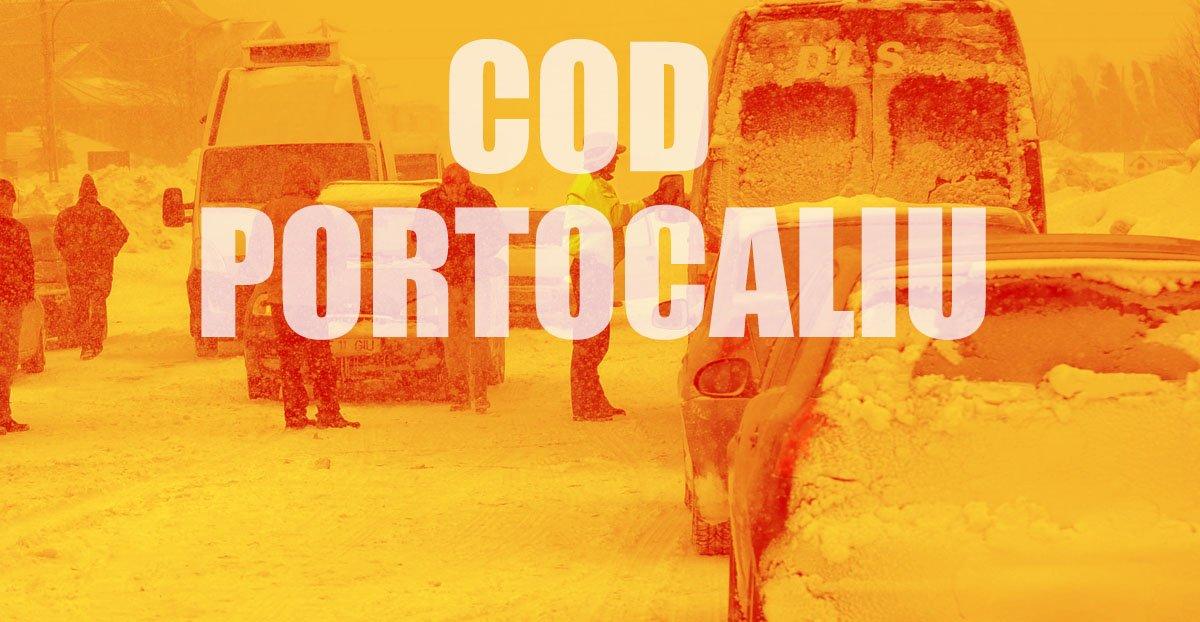 UPDATE. Codul Portocaliu se prelungește până marți. Care este situația în județul Constanța