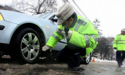 Controale în trafic la Constanţa. Poliţiştii verifică anvelopele!