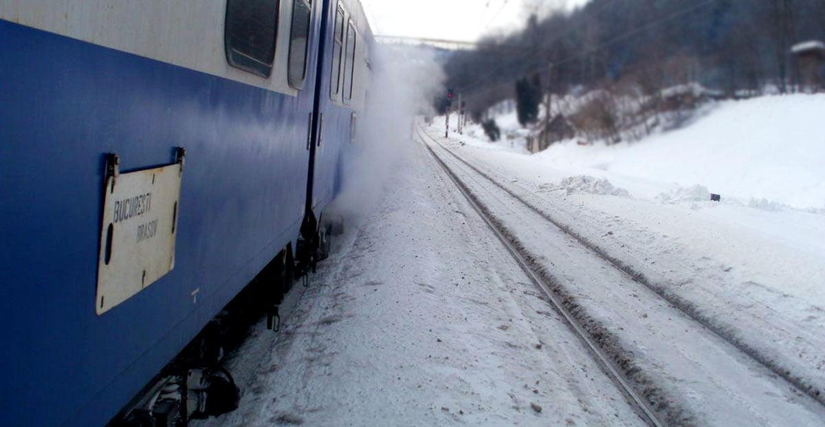 CFR. 13 trenuri anulate din cauza viscolului!