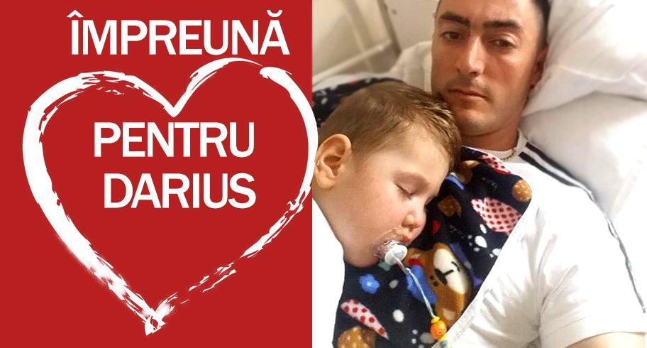 Să-i salvăm viața micuțului Darius! Tătăl său este pe front în Afganistan