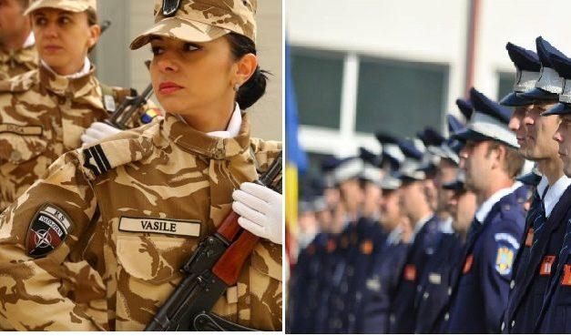 Militarii și polițiștii să pună armele în cui și să-și ia găleată cu mop. Când va ajunge un SGP la un venit brut de 6.247 lei, cât are o infirmieră debutantă?