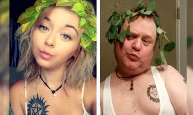 Un tată a imitat fotografiile fiicei sale de pe Instagram