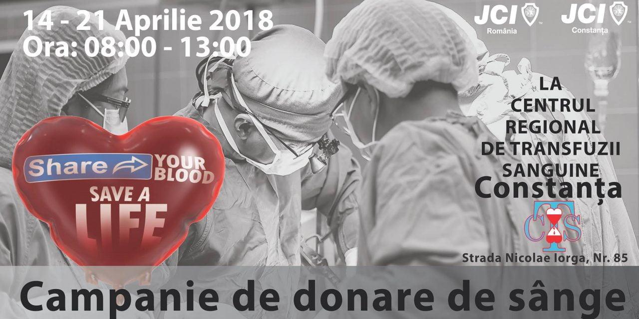 Donează sânge pentru a salva o viață