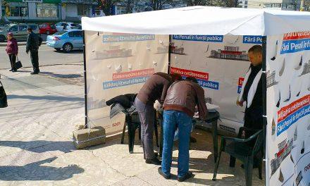 """Demersul USR, """"Fără penali în funcții publice"""" a strâns peste 3.000 de semnături la Constanța"""