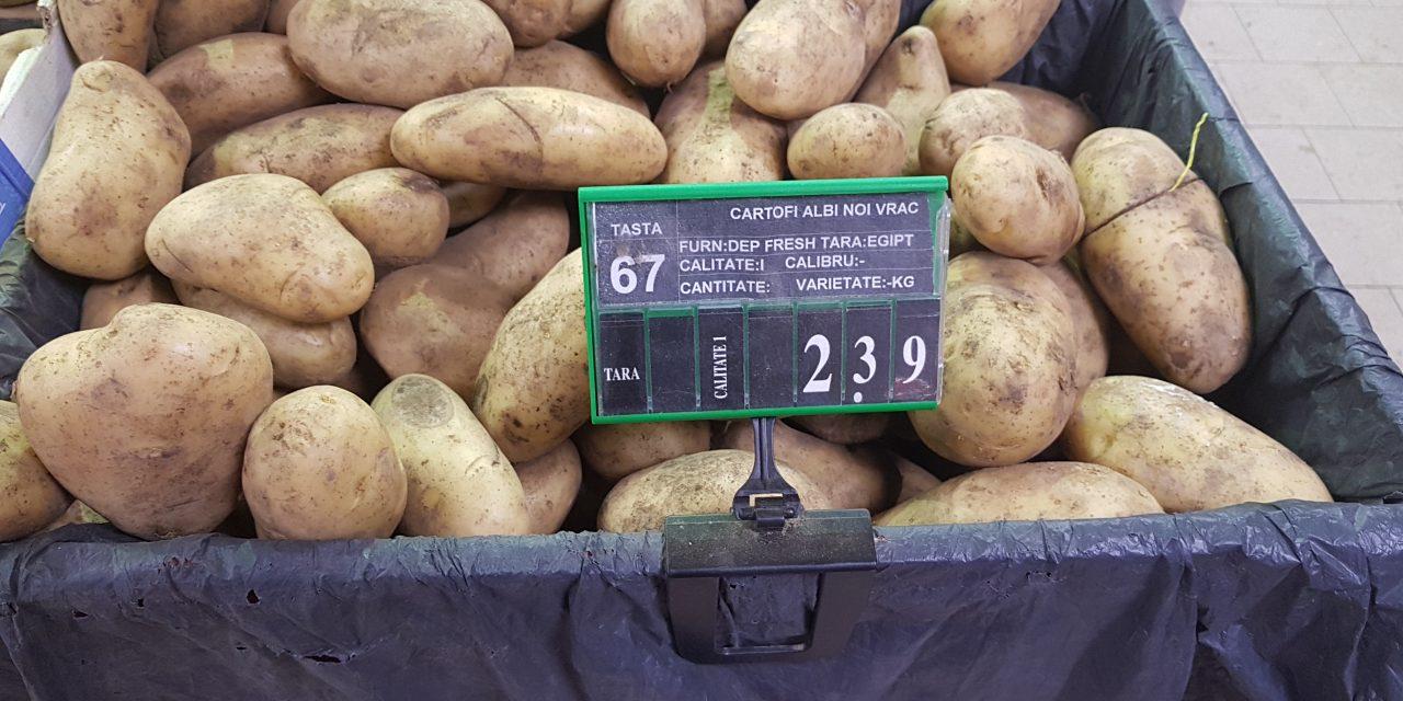 Cartofii noi din Egipt, vânduți în hipermarketurile și piețele din Constanța. 1.100 tone de cartofi, infectate cu o bacterie