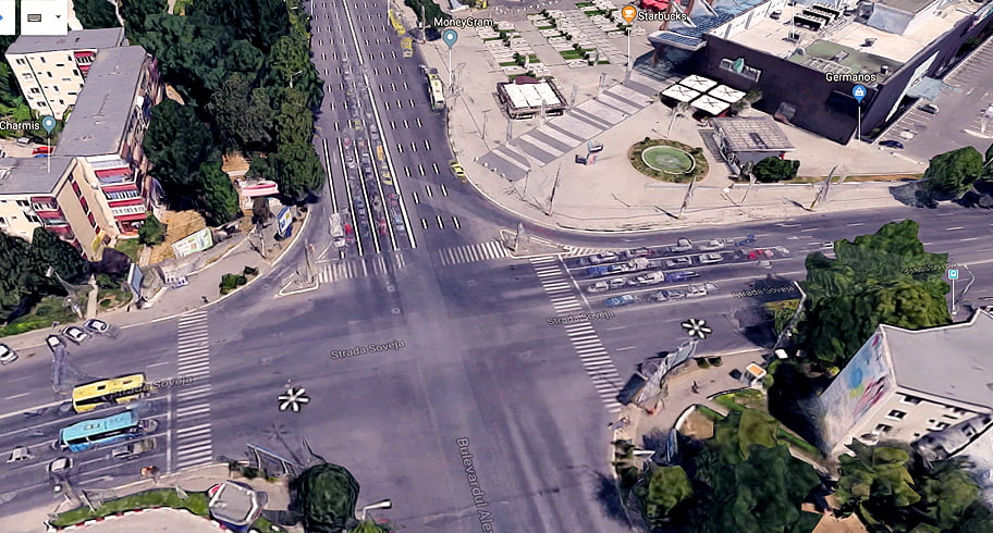 Intersecția de la City Park Mall, reconfigurată. Semafoarele și trecerile de pietoni vor fi mutate
