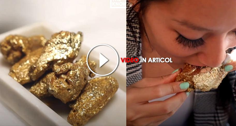 Noua fiță din New York: aripioare de pui poleite cu aur de 24k