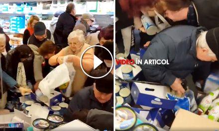 Nebunie într-un supermarket. Mai mulți pensionari s-au călcat în picioare pentru brânză la ofertă