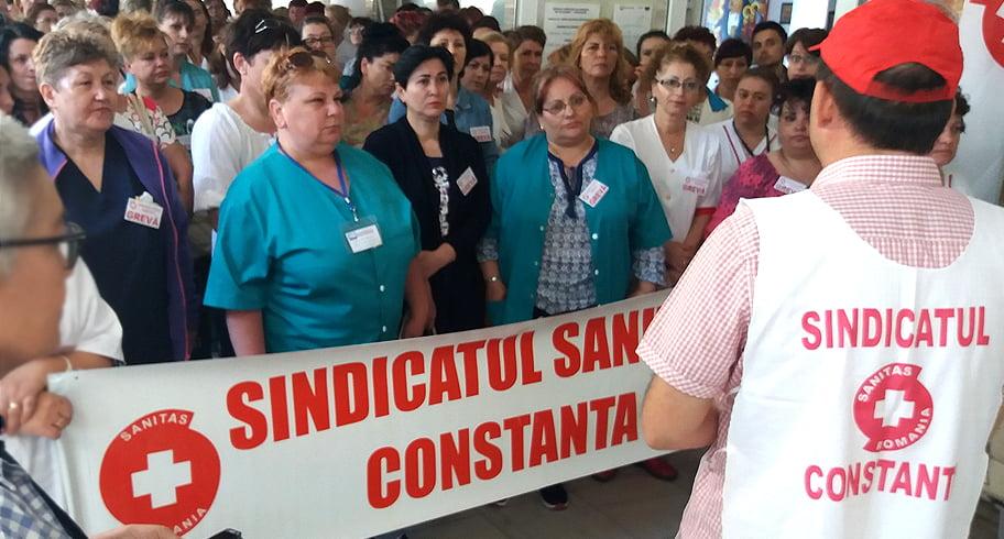 Grevă de avertisment în Spitalul Județean Constanța. Protestul SANITAS a blocat sistemul medical