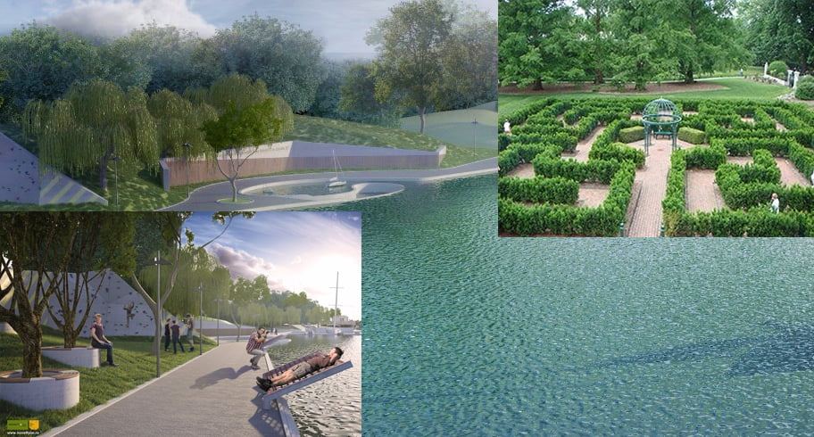 Orașul Ovidiu va avea două parcuri moderne cu labirint de vegetație, perete de escaladă și amfiteatru