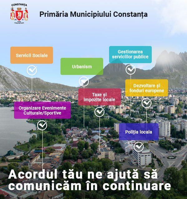 Primăria Constanța, campanie de comunicare on-line cu imaginea altui oraș pe fundal. Are parcuri, spații verzi și… munți