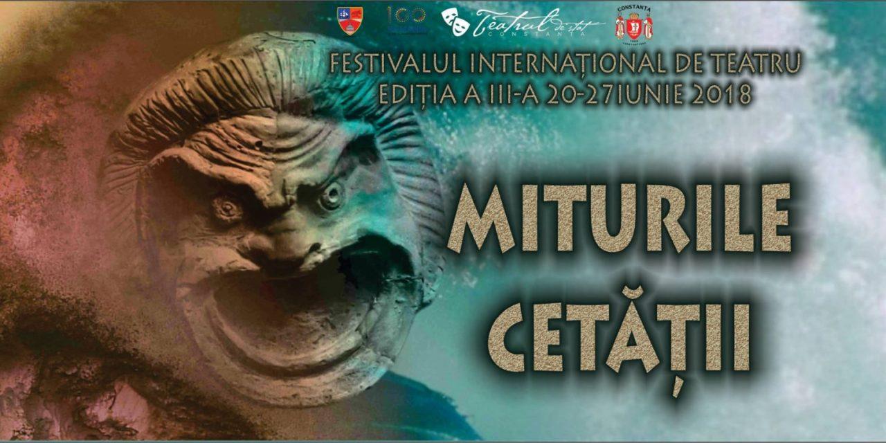 """Festivalul Internațional de Teatru """"Miturile Cetății"""" se organizează la Constanța. Află programul evenimentelor"""