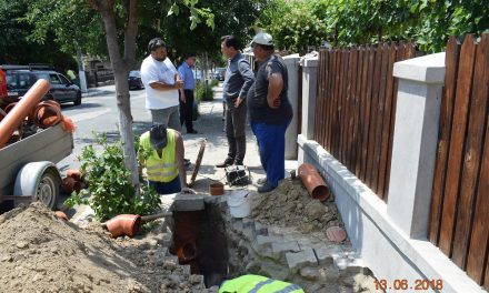 Cernavodă – lucrări de branșare la noua rețea de canalizare