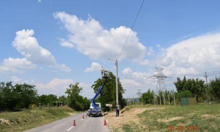Primăria Cernavodă desfășoară lucrări de extindere a rețelei de iluminat public