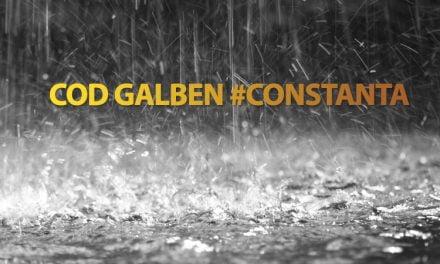 Avertizare ANM. COD GALBEN de ploi și descărcări electrice în tot județul Constanța