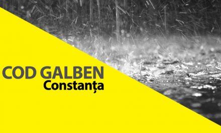 Avertizare ANM. Cod galben de ploi în tot județul Constanța