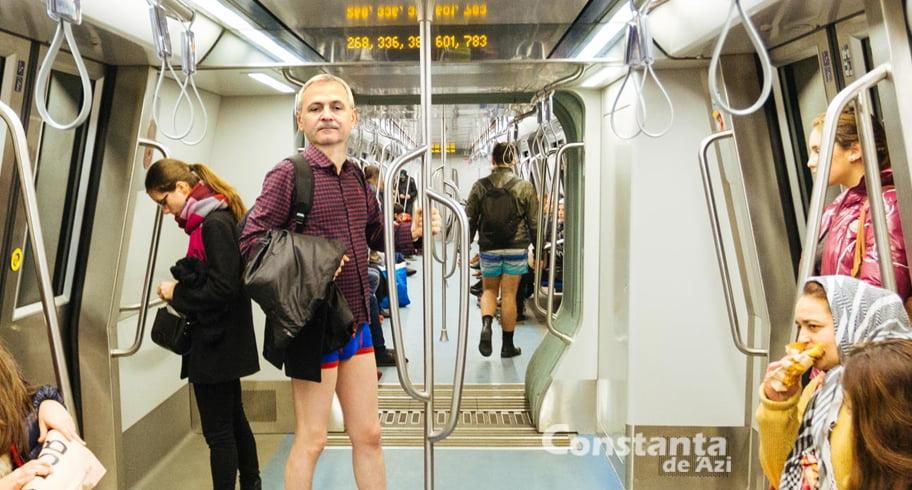 """Bărbat surprins la metrou în timp ce exersa un discurs bizar: """"Eu sunt stăpânul vostru! Țara e a mea!"""""""