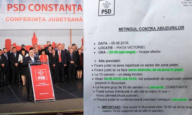Ordine, supunere și greșeli gramaticale. Circulara trimisă în PSD Constanța pentru mitingul de la București