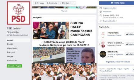 MIZERABILII! PSD Constanța își bate joc de imaginea Simonei Halep