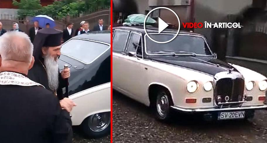 ÎPS Teodosie, plimbat în Rolls Royce de ierarhii cu rang înalt de la Suceava