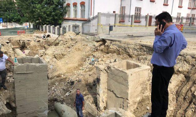 """VIDEO. Lucrări de amploare la Cernavodă, în urma inundațiilor. Liviu Negoiță: """"Trebuie să rezolvăm o dată pentru totdeauna aceste probleme"""""""