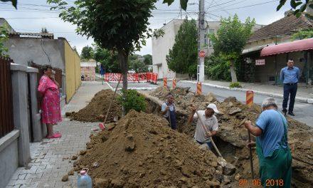 Cernavodă – locuitorii de pe strada Ovidiu, branșați la noul sistem de canalizare
