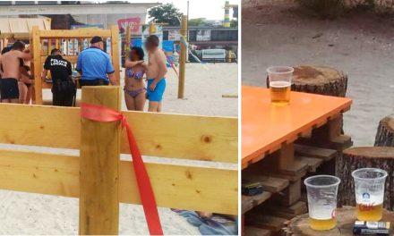 Turiștii care consumau bere pe Plaja Terapeutică, amendați de Poliția Locală