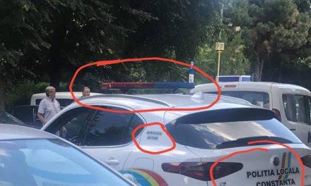 """Acuzații la adresa Poliției Locale Constanța. """"Și la Primăria Constanța suntimpostori. Girofar ilegalcu lumini roșii și albastre și inscripții false"""""""