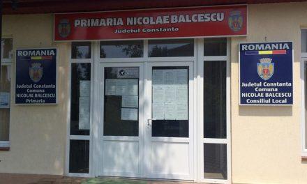 Primăria Nicolae Bălcescu, județul Constanța, ANUNȚ PUBLIC