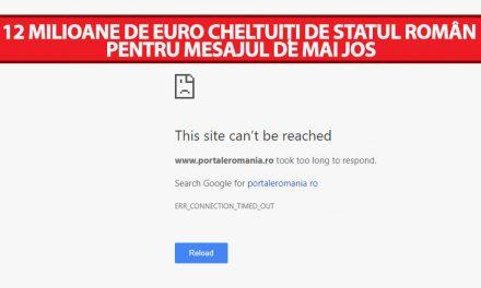 """Guvernul României a """"spart"""" 12 milioane de euro pentru cel mai scump site din lume, care nu e funcțional"""