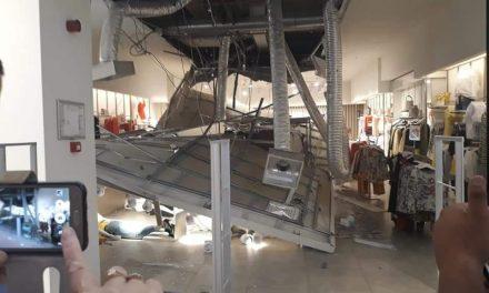 FOTO. Tavan căzut în City Park Mall peste clienți! O femeie a fost rănită