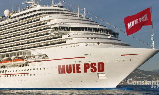 Un vas de croazieră a ancorat în Portul Constanța cu un mesaj pentru partidul de la guvernare