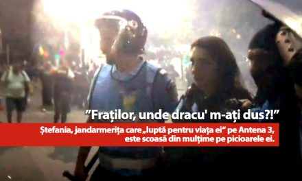 """Realitate vs. Manipulare. VIDEO. Jandarmerița care """"se lupta pentru viața ei"""", iese din mulțime pe picioarele ei: """"Unde dracu' m-ați dus?"""""""