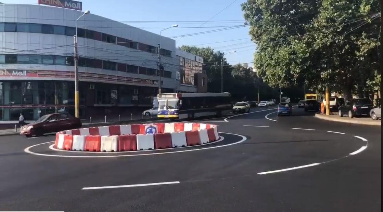 Video / Un nou sens giratoriu în Constanța, într-una dintre cele mai aglomerate zone