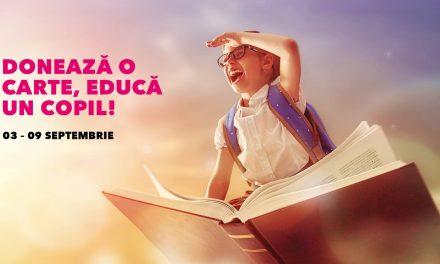 """Ai cărți pe care nu le mai folosești? Fii parte a campaniei """"Donează o carte, educă un copil!"""""""