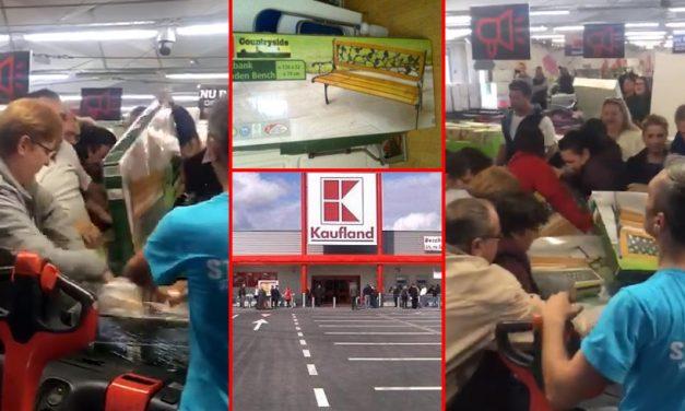 VIDEO. S-au călcat în picioare, în Kaufland Năvodari, pentru băncuțe la promoție