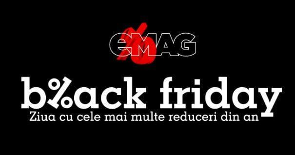 """Pregătiți-vă de Black Friday! eMAG a anunțat când va organiza """"vinerea neagră"""" a reducerilor"""