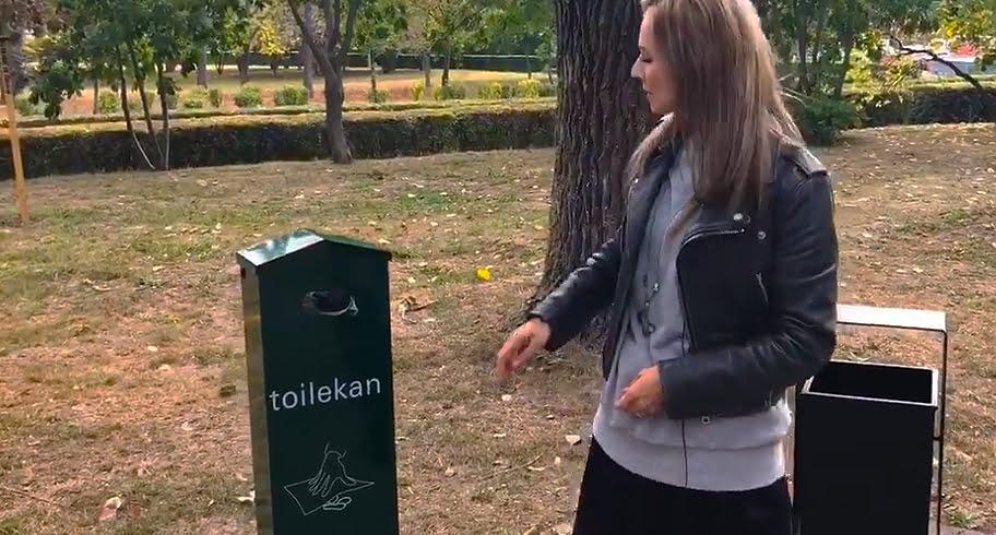 Băncuțe și dispozitive pentru deșeuri canine, montate în parcul Tăbăcărie