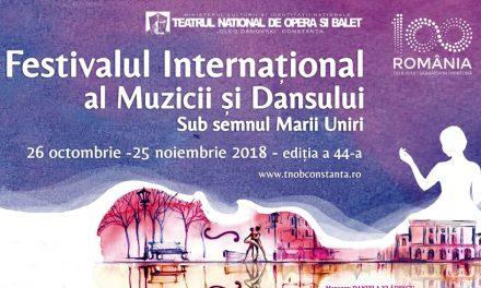 """Festivalul Internațional al Muzicii și Dansului, ediția a 44-a, la TNOB """"Oleg Danovski"""""""