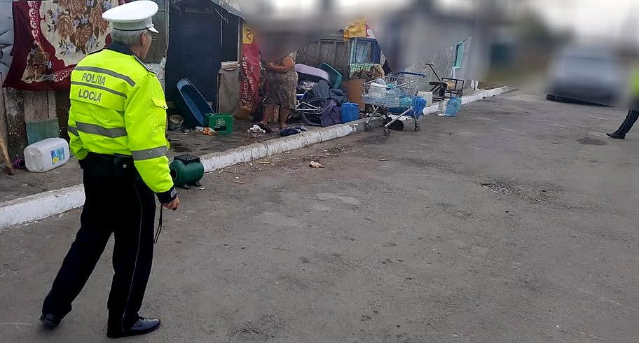 FOTO. Amenzi și curățenie în mahala. Polițiștii locali au intervenit într-o zonă din cartierul Palas