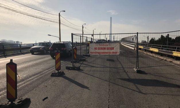 Podul de la Butelii se deschide complet circulației vineri dimineață. Făgădău recunoaște că au apărut deja gropi pe partea reabilitată