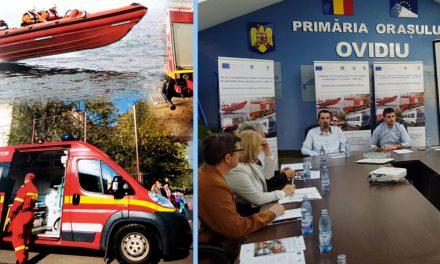 Primăria din Ovidiu a lansat proiectul de intervenții în caz de urgență. Vor fi achiziționate o mașină de pompieri, o ambulanță și chiar o șalupă specială