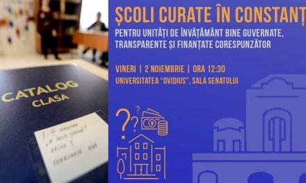 """""""ȘCOLI CURATE"""" la Constanța. Eveniment despre accesarea și cheltuirea banilor în învățământul preuniversitar"""