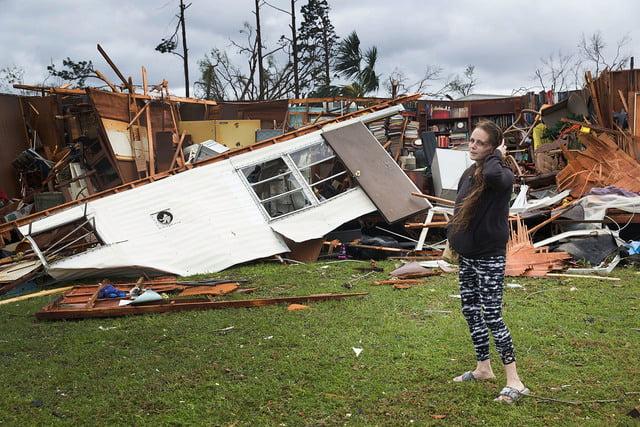 """IMAGINI TERIBILE. Cum arată un oraș lovit de uraganul """"Michael"""", cel mai devastator din ultimii o sută de ani"""