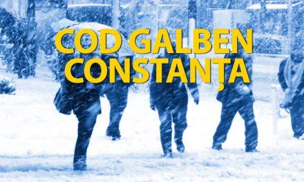 Atenționare meteo! Constanța, sub COD GALBEN DE NINSORI și VISCOL