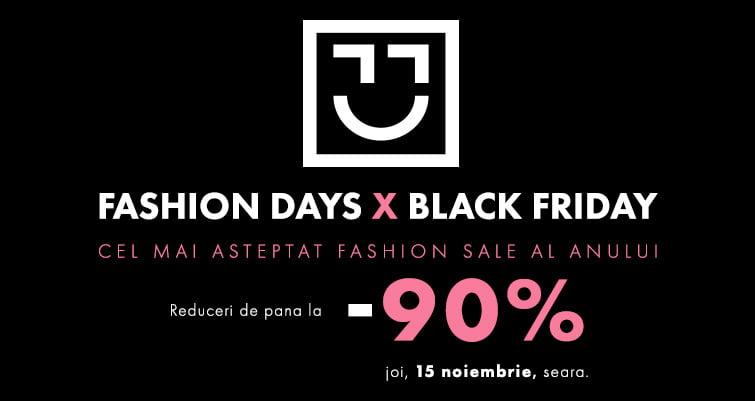 Black Friday 2018 la Fashion Days! Campania începe joi, la ora 19. Ce branduri vor avea reduceri de 90%