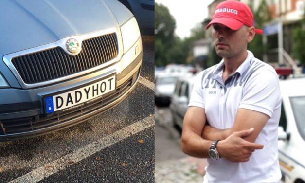 Șoferul cu plăcuțele M*** PSD are un nou mesaj la numere