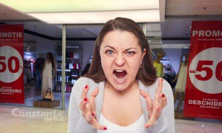 Constănțean ajuns din greșeală în Tomis Mall, atacat de o vânzătoare sălbăticită!