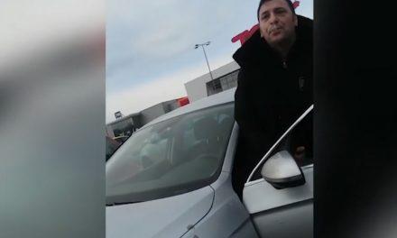 VIDEO / Inspector OPC bătut în parcarea Carrefour de un șmecher cu limuzină