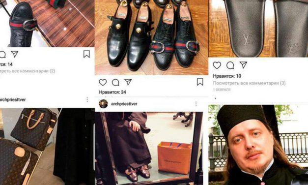 Un preot se laudă pe Instagram cu articole Gucci şi Louis Vuitton